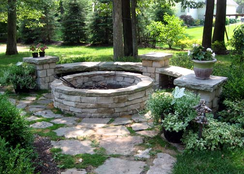 Firepit Project With Curved Benches