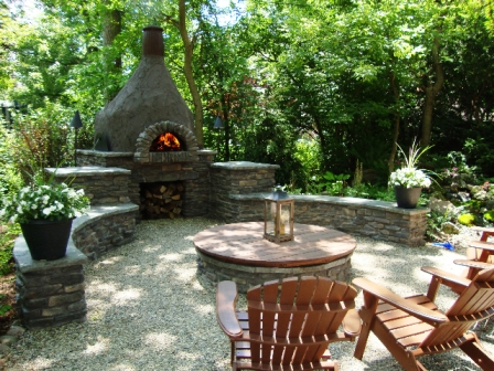 Pizza oven and fire pit project