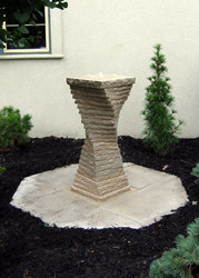 New Stacked Limestone Fountain