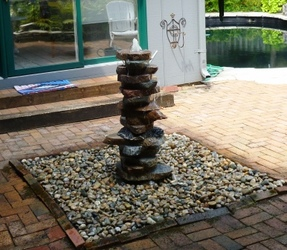 Stacked Granite Slabs Fountain